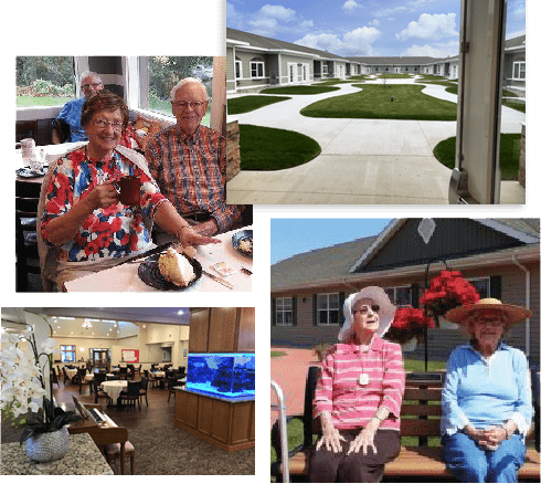 Couple at New Hope Bay Assisted Living